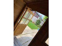 Children's garden wooden playhouse dollhouse