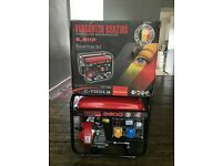 Brand new mobile generator (petrol) 2.8 Kva 6.5Hp + 10m plug socket lead