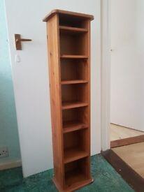 Pine DVD/CD storage shelves