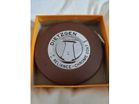 ORIGINAL Mid Century Vintage Dietzgen Chrome Steel Tape Measure Leather Casing .In Original Box