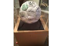 Celtic team 2000 signed football.