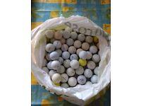 Mixed bag of 75 used golf balls