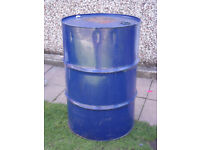 Used Oil Drum Oil Barrel - possible uses: - store fluid, BBQ build project, Build a Smoker project