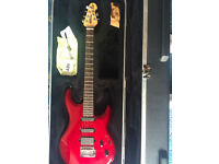 Ernie Ball Musicman Luke Electric Guitar (RARE) - Cherry Red with Music man Hard Case - EMG - Gibson