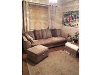 4 seater sofa, footstool and cuddle sofa