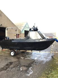 Fast fisher speed boat with new 40HP Four Stroke Mercury