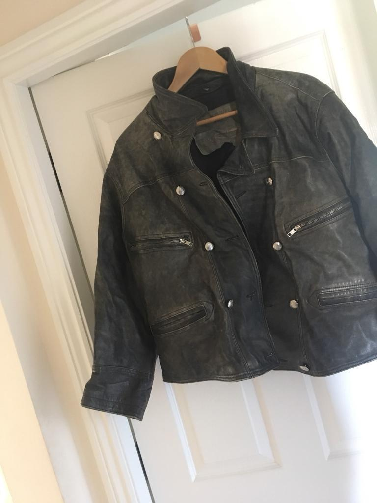 Leather jacket size L and XL