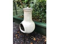 Chimenea, clay with cover