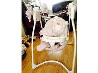 Unisex baby swinging chair