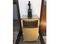gold lloyd loom style cabinet