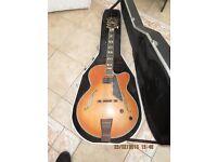 Peerless Jazz City Hollowbody guitar+ hardcase