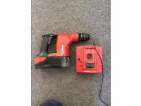 HILTI 36V SDS USED WITH BATTERY CHARGER & CASE