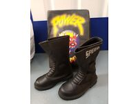 Almost new waterproof motorcycle boots size 4