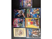 7 DVDs, all excellent condition, ratings U to PG