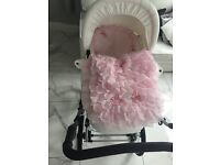 White leather pram