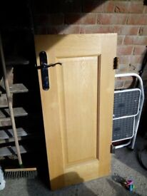 Small solid oak cupboard door
