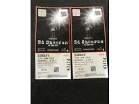 Ed Sheeran 2 tickets Sunday 17th june
