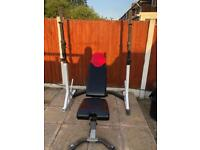 Adjustable Squat & Dip With Weights Bench.•Can Deliver*•