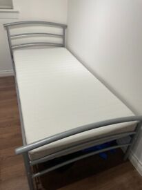 Single bed frame and IKEA mattress