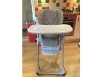 Chicco Polly grey highchair - great condition