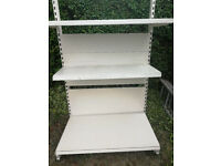 Retail shelving - used as garage and shed shelving but no longer required