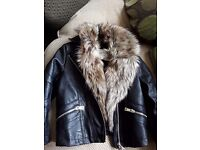 Girls river island leather jacket age 5 immaculate