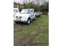 Mitsubishi shogun & Ifor williams trailer