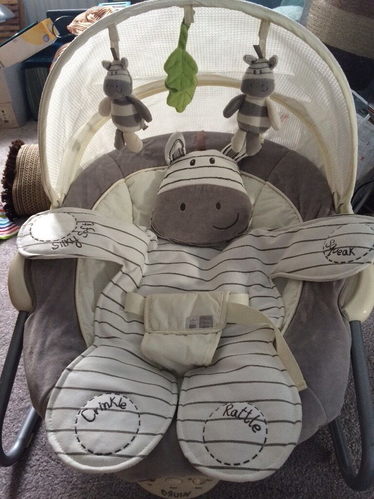 Bruin Ziggy Zebra Baby Bouncer Chair In Bingham