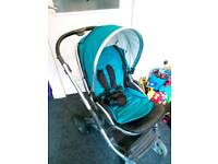 Oyster 2 pram, car seat, buggy board + extras