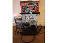 Playstation 3 boxed with one controller and games