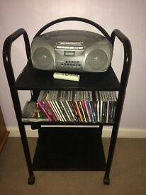 Blank portable hifi stand - good condition £10