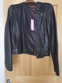 Brand new Monsoon real leather jacket size UK 16
