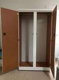White Wardrobe with lockable doors