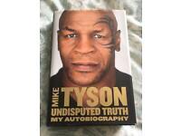 Mike Tyson hardback autobiography.