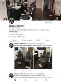 Belmont barbers chairs refurbished,buy , sell