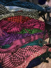 14 checkered scarves