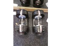 Adjustable dumbells for sale x2
