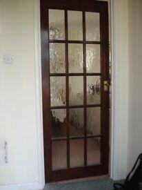 GLAZED WOODEN INTERNAL DOOR
