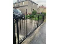 Blacksmith wrought iron driveway gates railings