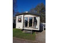 Prestige gas central heating 3 bedroom caravan to hire Haggerston Castle