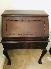 Lovely Old Wooden Desk Bureau Made In South Africa