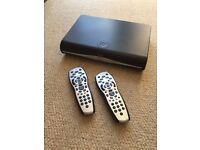 Sky+ HD box with 2 remote controls