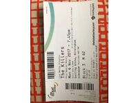 The Killers Genting Arena x 1 ticket. Seated