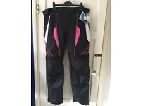 BRAND NEW - Ladies size 16 women's motorbike trousers
