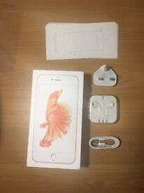 iPhone 6s plus Rose Gold 128GB - excellent condition with BRAND NEW original accessories.