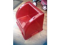 Lovely red toddlers plastic chair