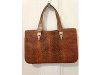 Vintage Snakeskin Italian Purse/Handbag