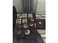 PS3 console,games and controller