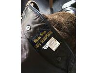 Real sheepskin brown coat