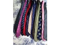 12 Silk ties mixed colours . All excellent condition no marks and regular width